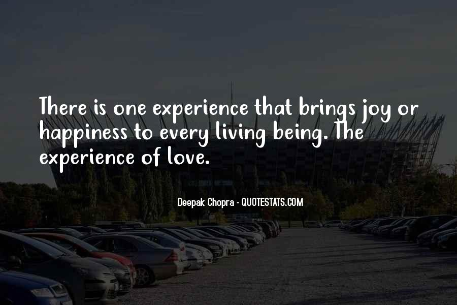 Quotes On Experience Of Love #128975