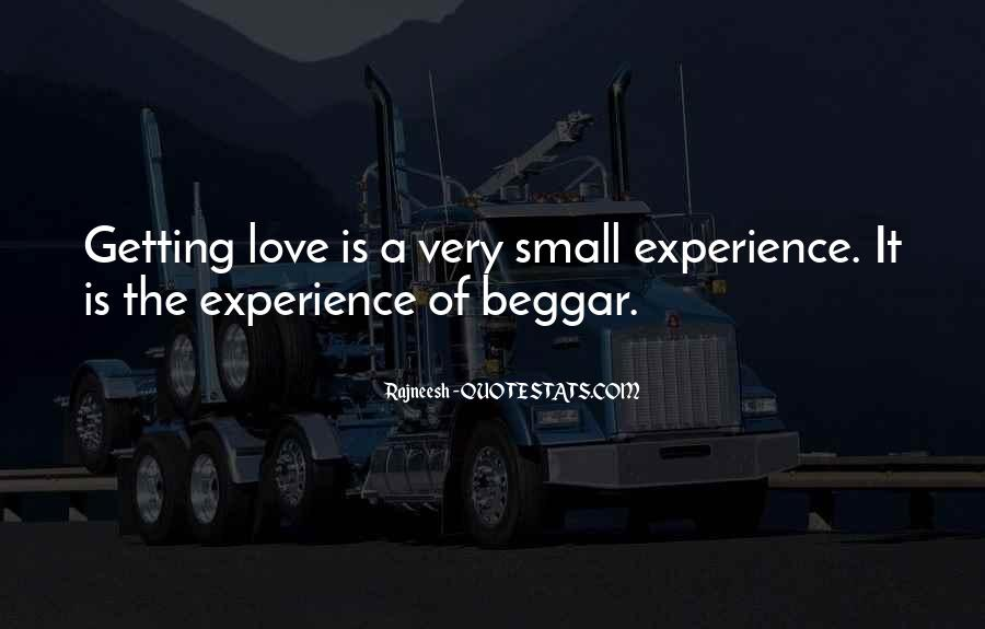 Quotes On Experience Of Love #255699