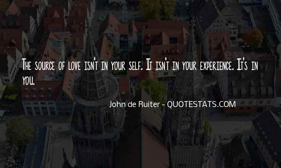 Quotes On Experience Of Love #66423