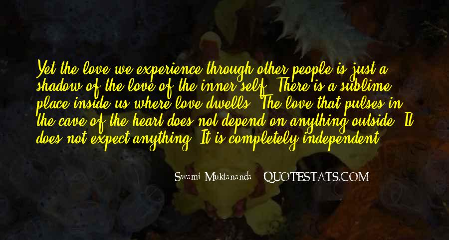 Quotes On Experience Of Love #99896
