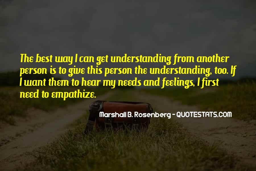 Quotes On Feelings And Understanding #591869