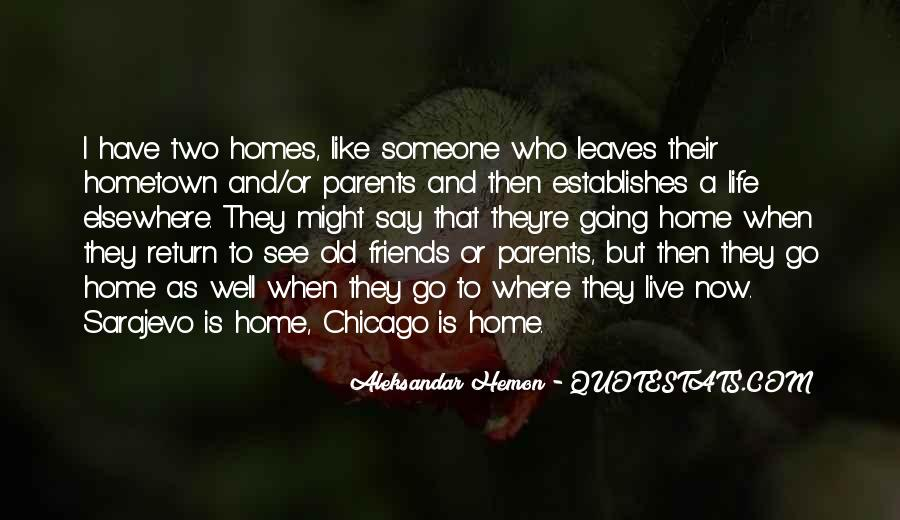 Quotes On Going Hometown #81939