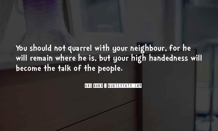 Quotes On High Handedness #1484825