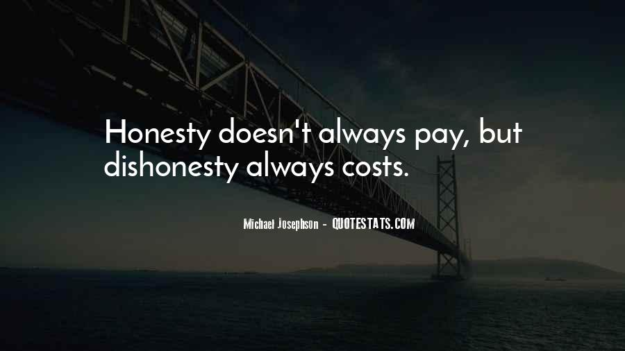 Quotes On Honesty And Dishonesty #1156360