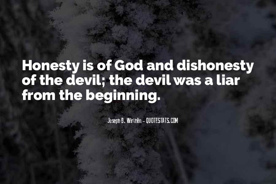 Quotes On Honesty And Dishonesty #195674