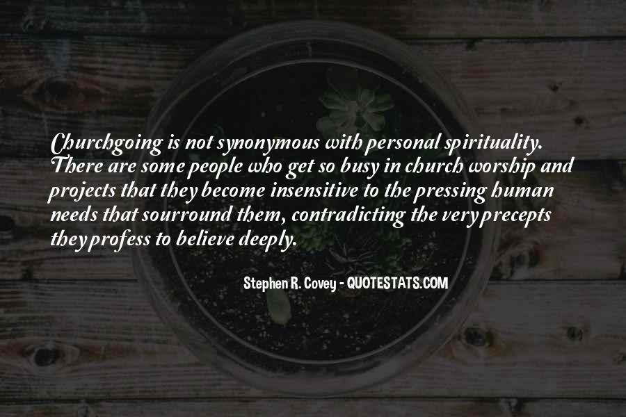 Quotes On Human Spirituality #553351