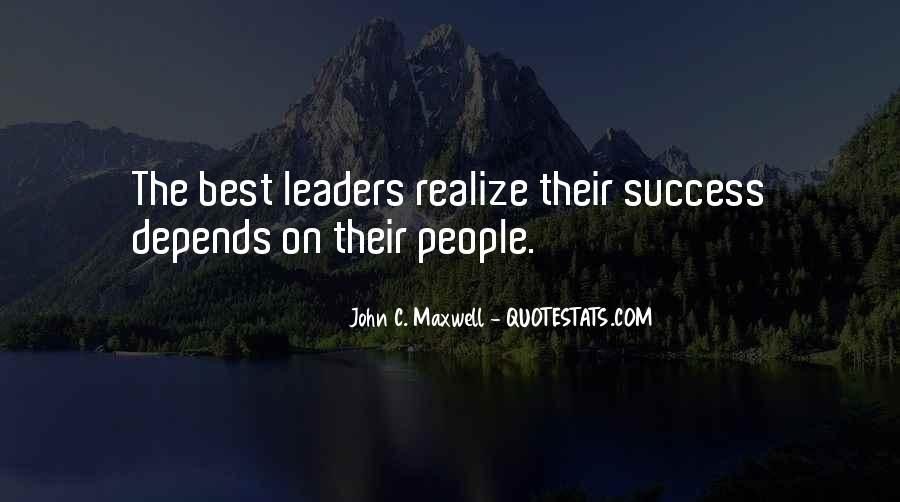 Quotes On Leadership John Maxwell #279486