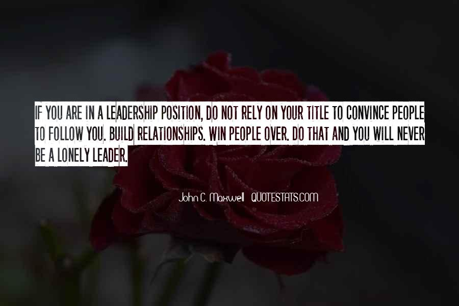 Quotes On Leadership John Maxwell #564340