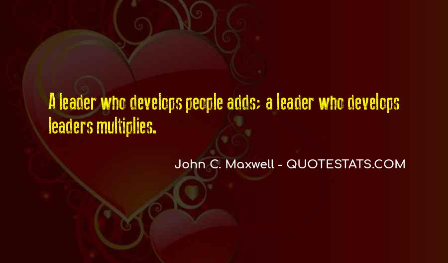 Quotes On Leadership John Maxwell #903655