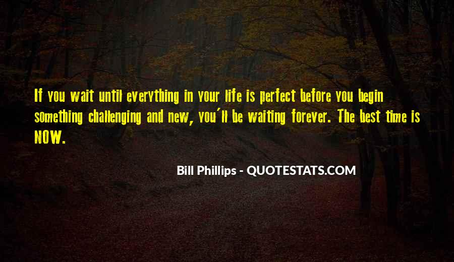 Quotes About Not Waiting For The Perfect Time #1508149