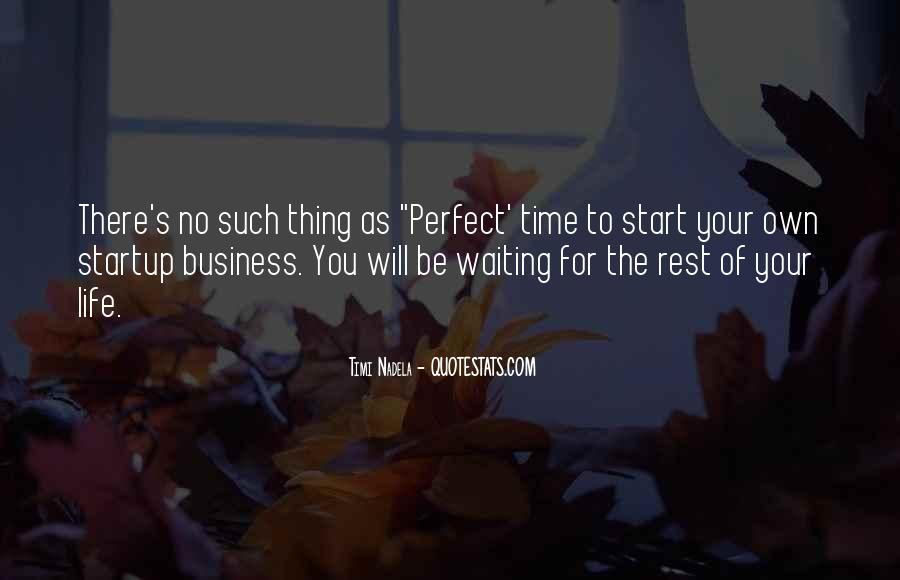 Quotes About Not Waiting For The Perfect Time #904778