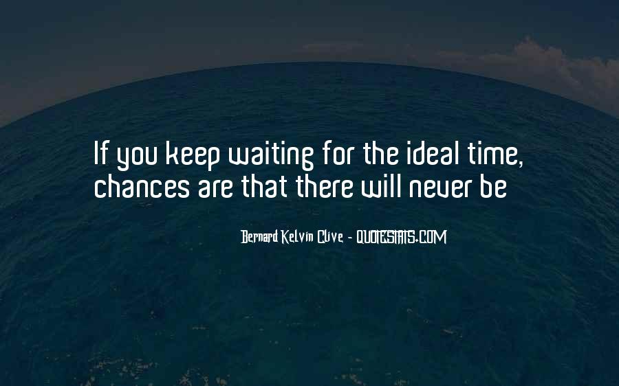 Quotes About Not Waiting For The Perfect Time #931544