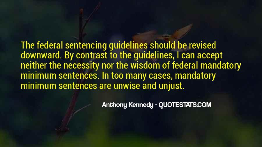 Quotes On Mandatory Minimum Sentencing #1235910
