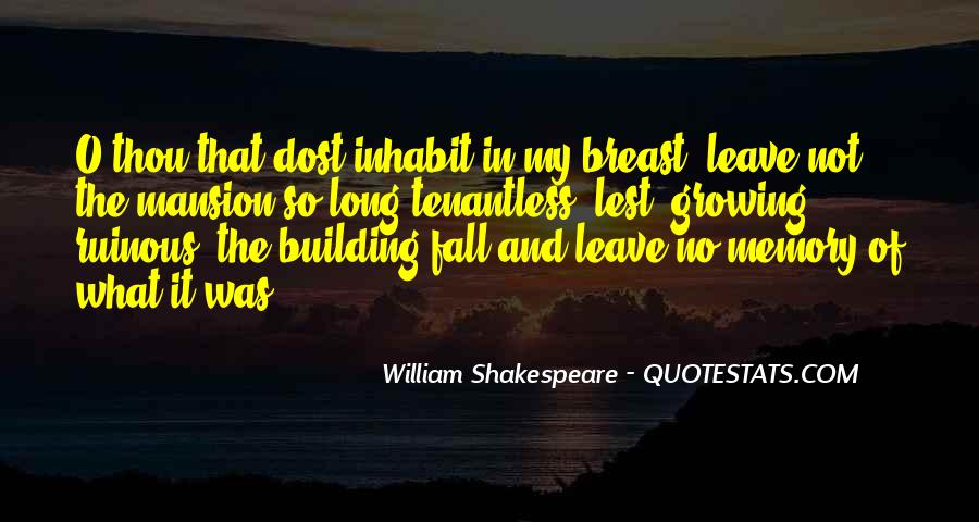 Quotes On Memories By Shakespeare #1464704