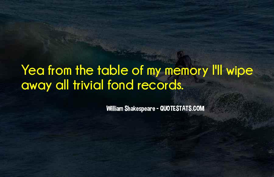 Quotes On Memories By Shakespeare #1604866