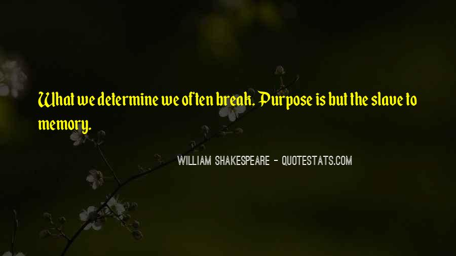 Quotes On Memories By Shakespeare #1649970