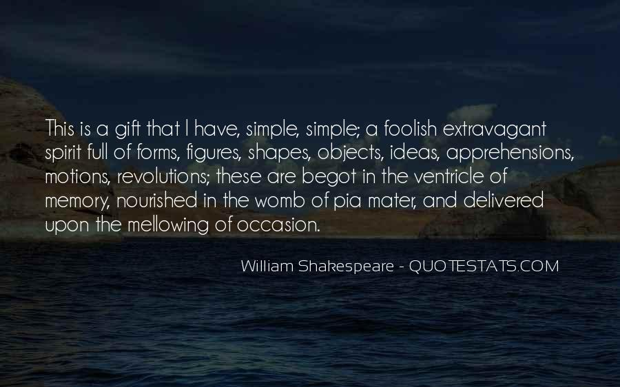 Quotes On Memories By Shakespeare #1845617