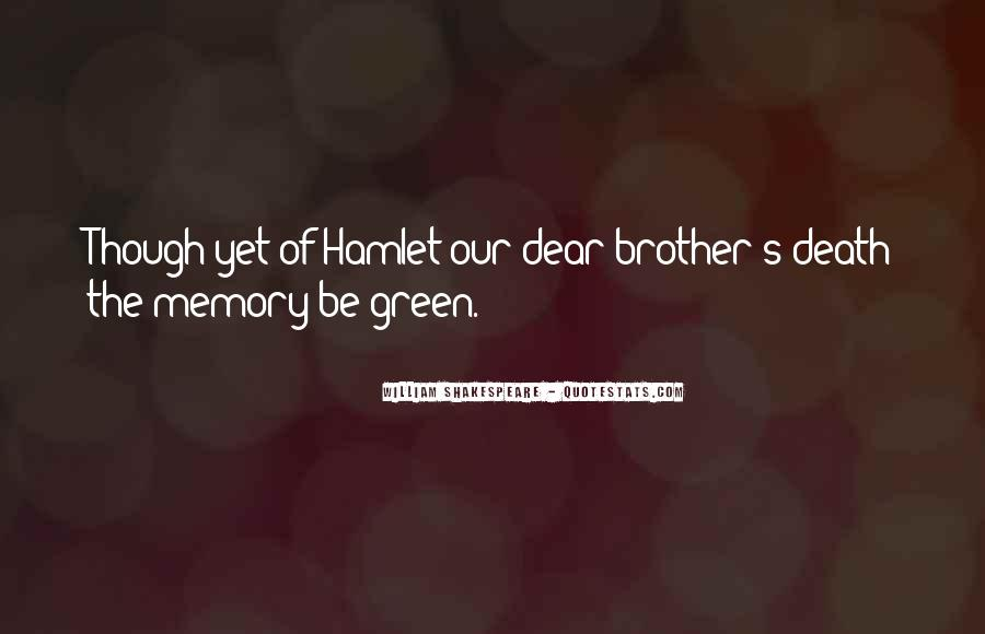 Quotes On Memories By Shakespeare #383365