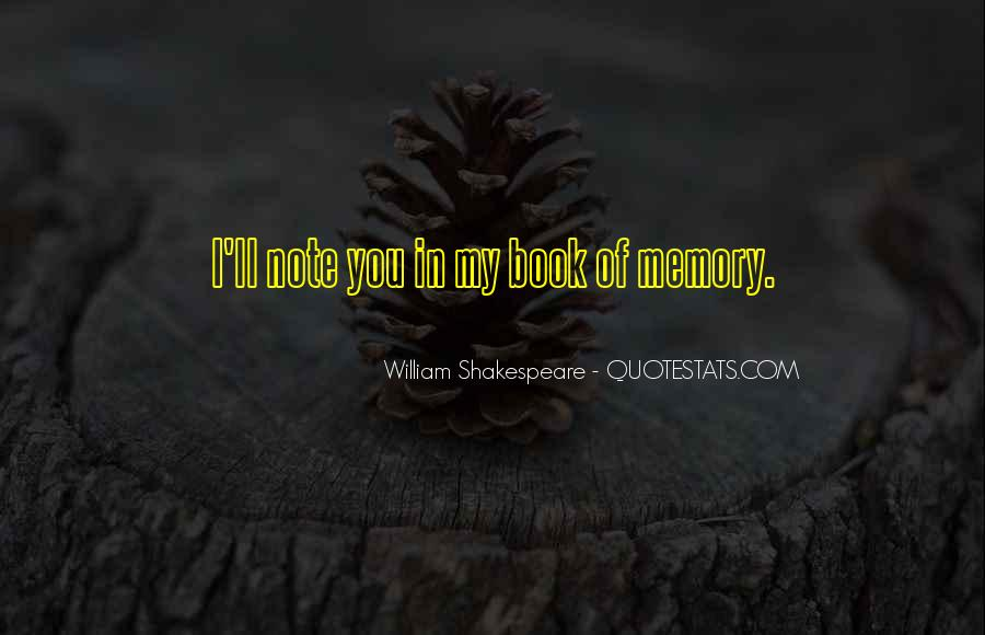 Quotes On Memories By Shakespeare #482762