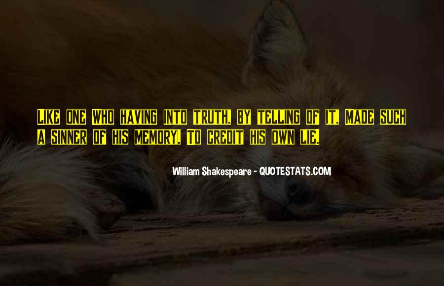 Quotes On Memories By Shakespeare #506150