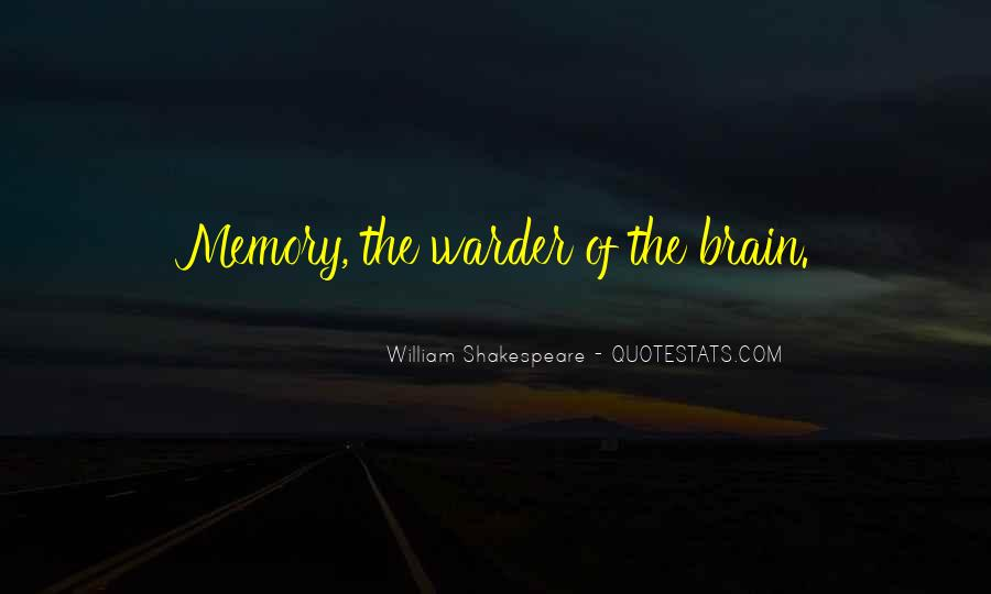 Quotes On Memories By Shakespeare #705580