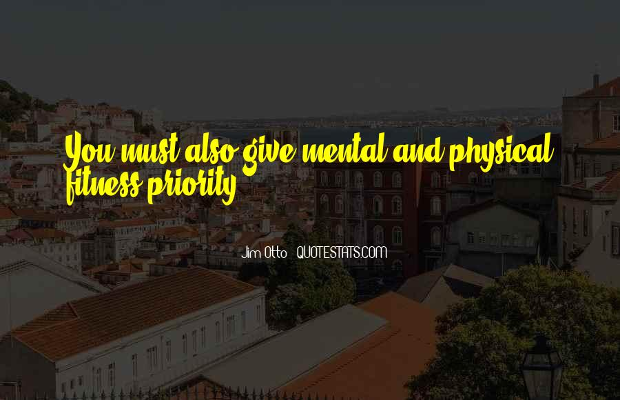 Quotes On Mental And Physical Fitness #1003611