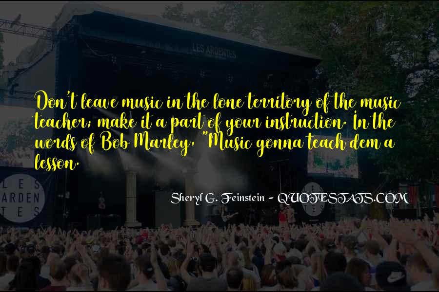 Quotes On Music Bob Marley #241631