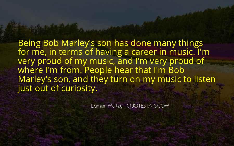 Quotes On Music Bob Marley #482175