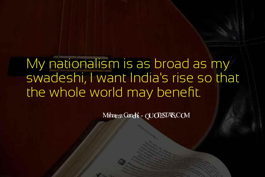 Quotes On Nationalism By Gandhi #1648893