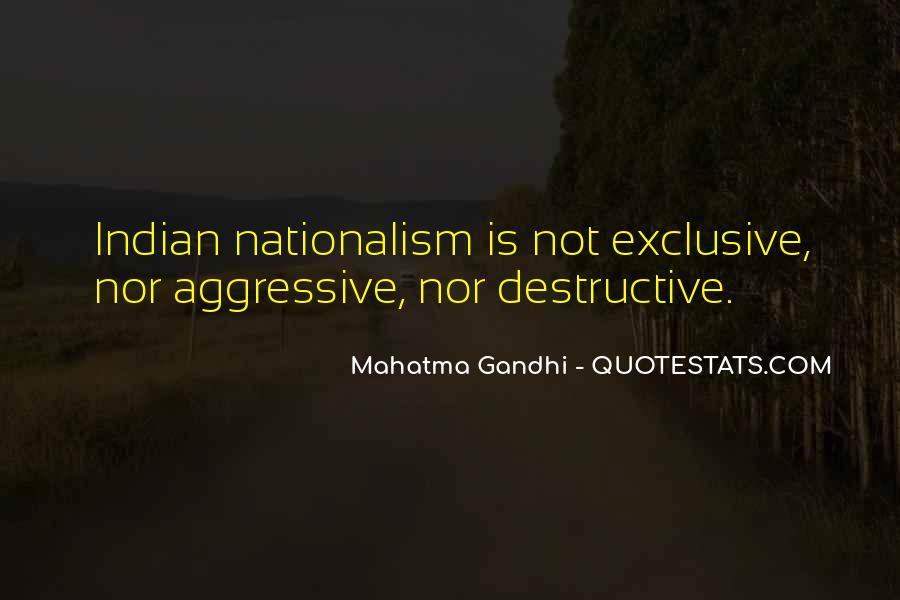 Quotes On Nationalism By Gandhi #476865