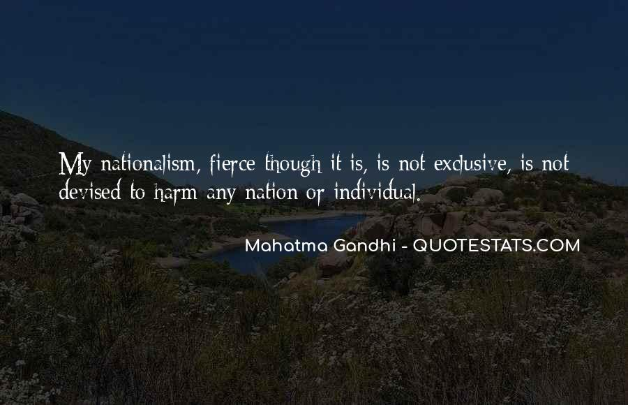 Quotes On Nationalism By Gandhi #983458