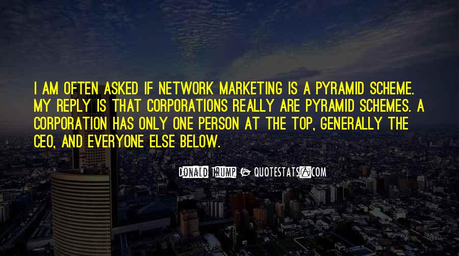 Quotes On Network Marketing By Donald Trump #1783684