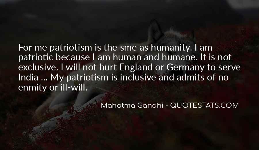Quotes On Patriotism By Mahatma Gandhi #261743