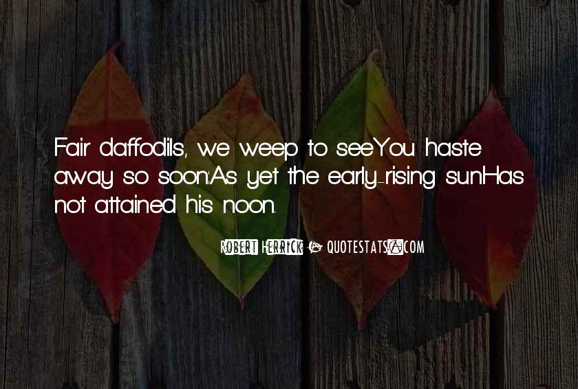 Quotes On Rising Up Early #1302292