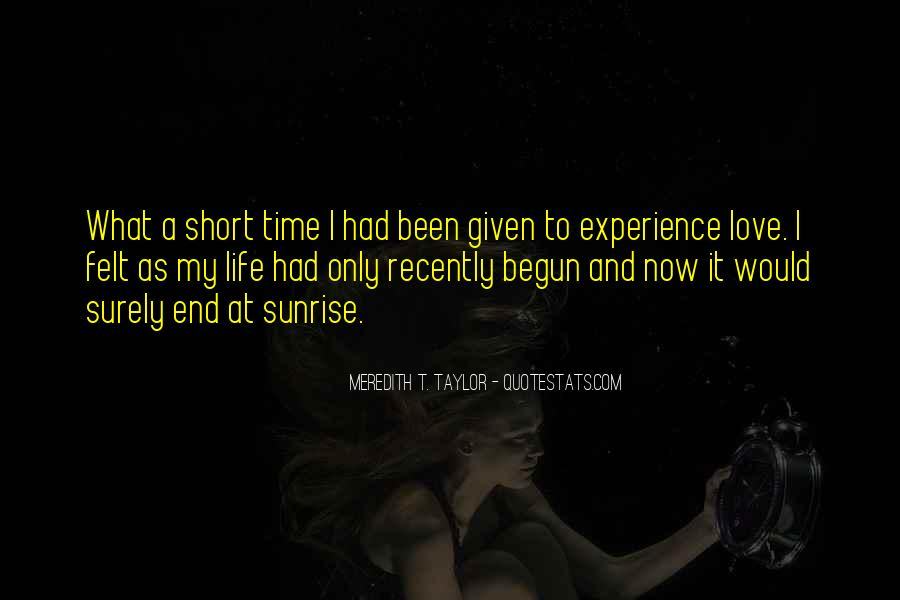 Quotes On Short Time Love #1328244