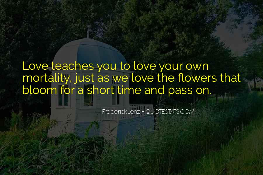 Quotes On Short Time Love #1815684