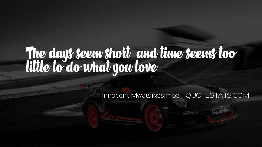 Quotes On Short Time Love #832127