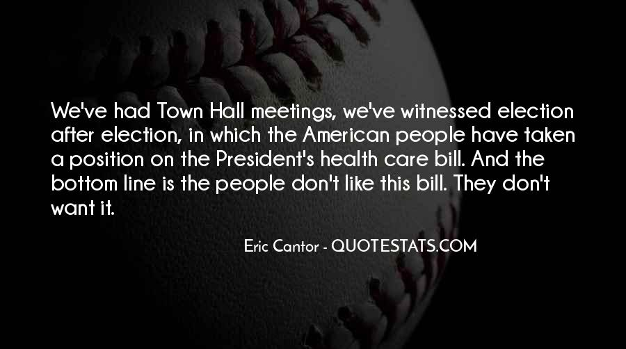 Quotes On Town Hall #1773916