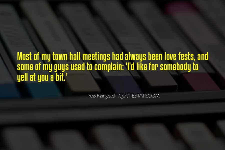 Quotes On Town Hall #460701