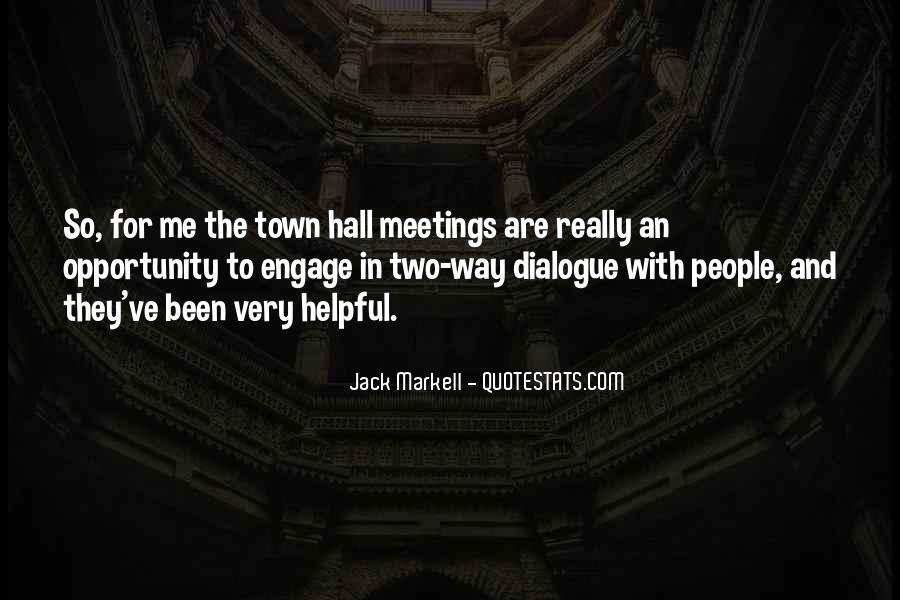 Quotes On Town Hall #706312