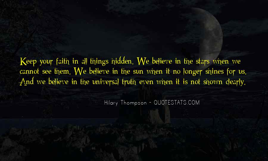 Quotes On Truth Cannot Be Hidden #50924