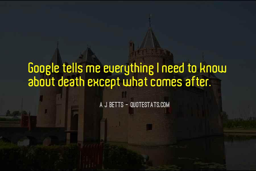 Quotes On What Comes After Death #1617205