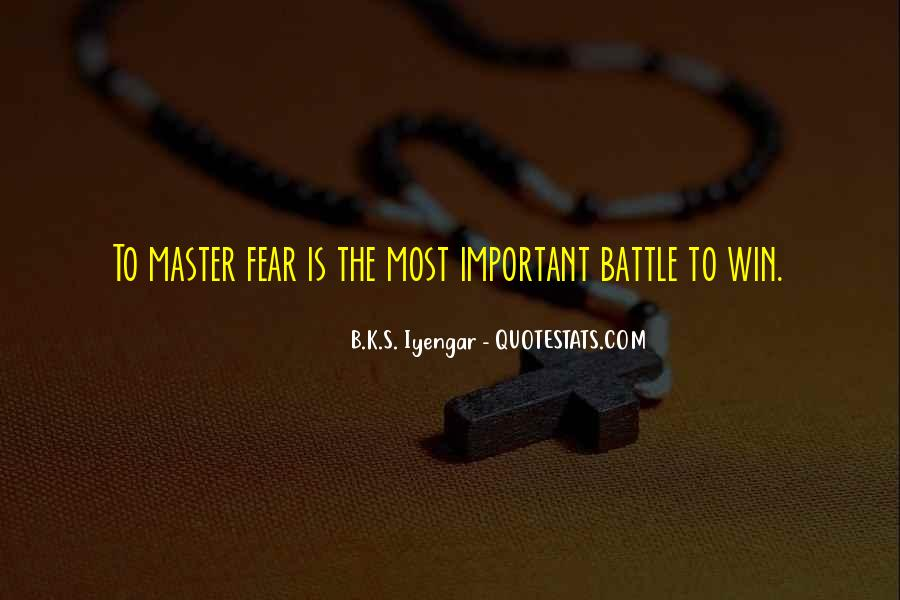 Quotes On Winning Over Fear #1421384