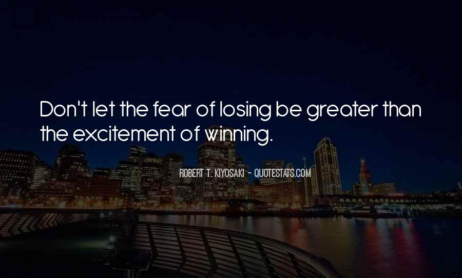 Quotes On Winning Over Fear #396185