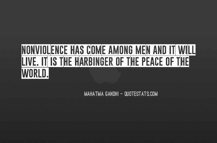 Quotes On World Peace And Nonviolence #1234192