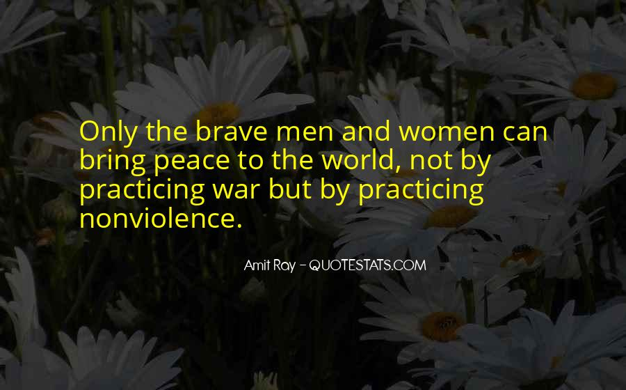 Quotes On World Peace And Nonviolence #477239