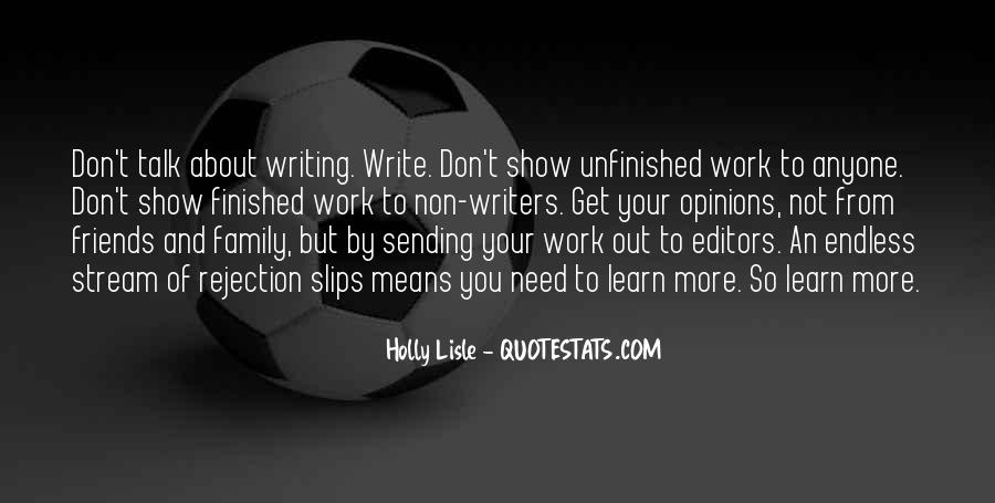 Quotes On Writing By Writers #1117574