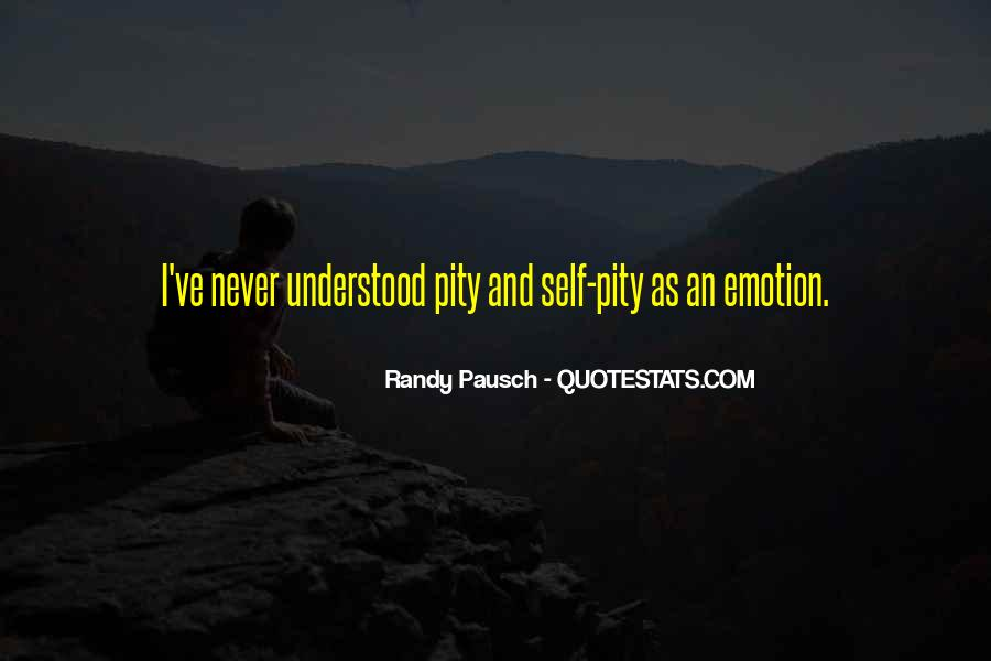 Quotes About Not Having Self Pity #33956