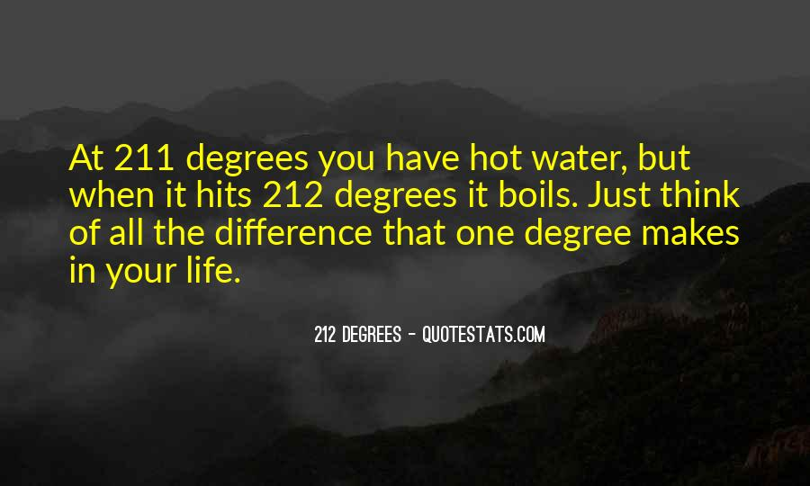 212 Degree Quotes #1076254