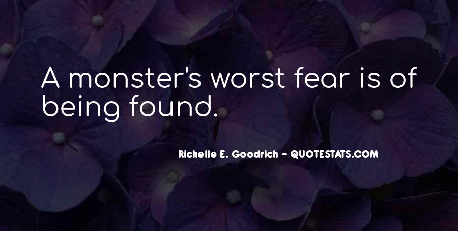 Quotes About Not Being A Monster #147364